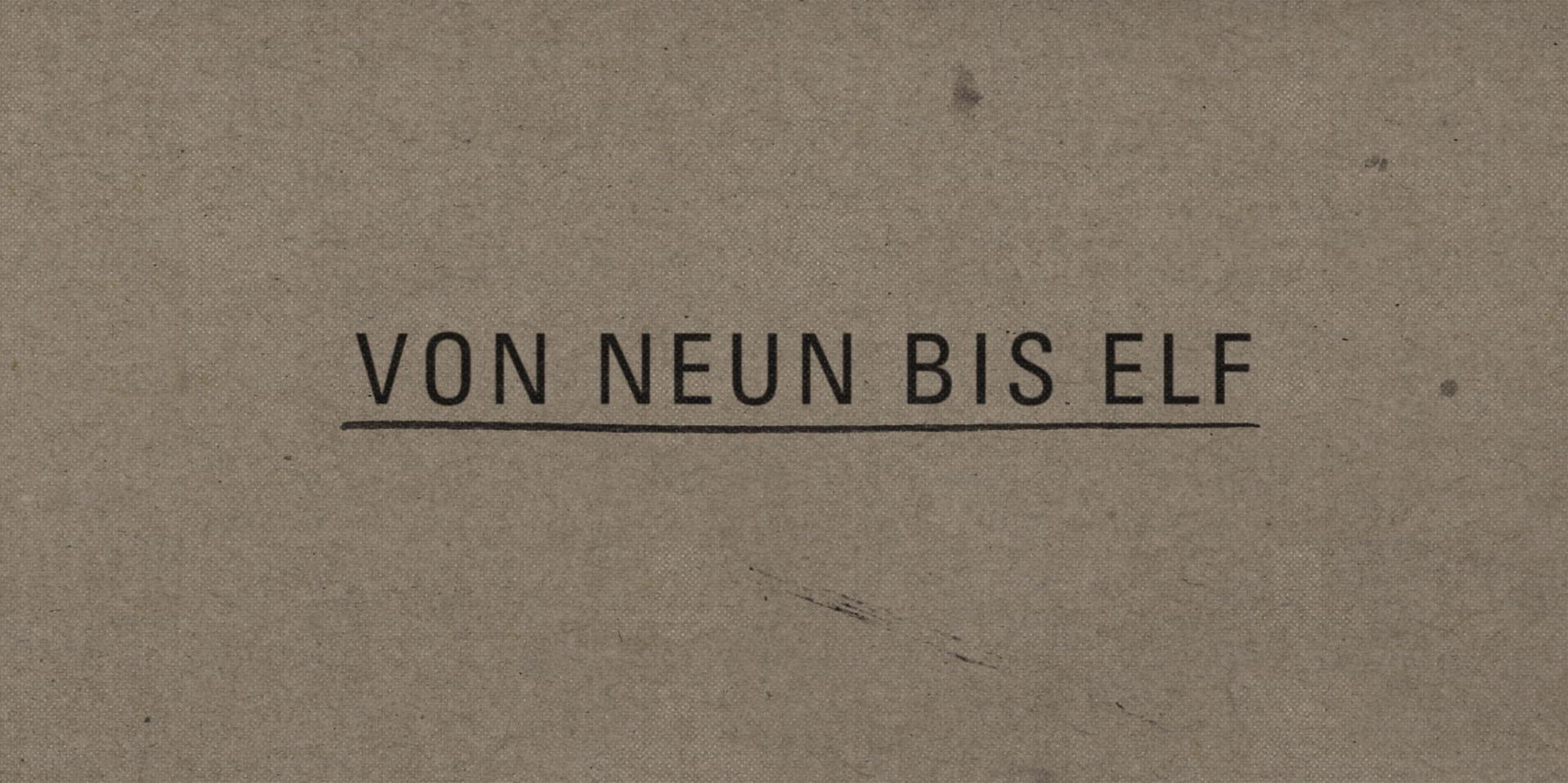 VON NEUN BIS ELF © Georg Meyer